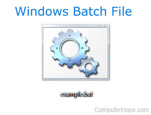 How to run a batch file