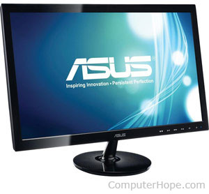 what is an led monitor rh computerhope com led computer monitor amazon led computer monitors for sale