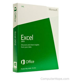 Microsoft Excel software box