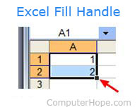 Microsoft Excel Fill Handle