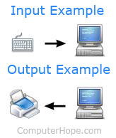 Input and Output example