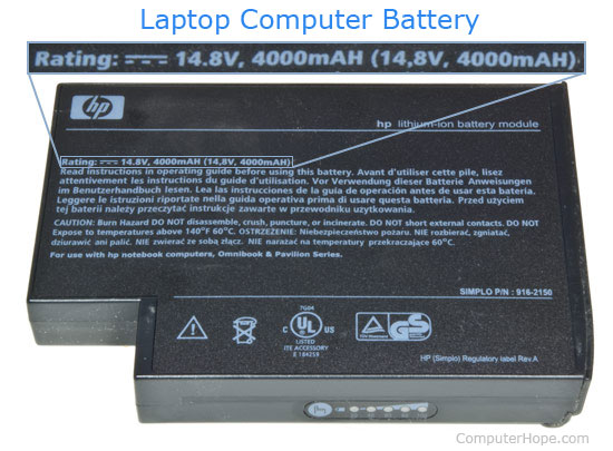 Primary internal battery 601 error on HP laptop