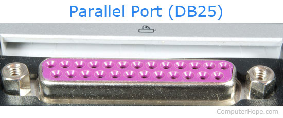 printer with usb and parallel connections parallel port