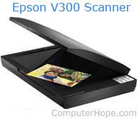Computer flatbed scanner