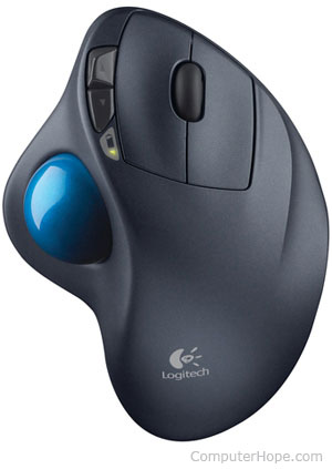 Trackball input device example
