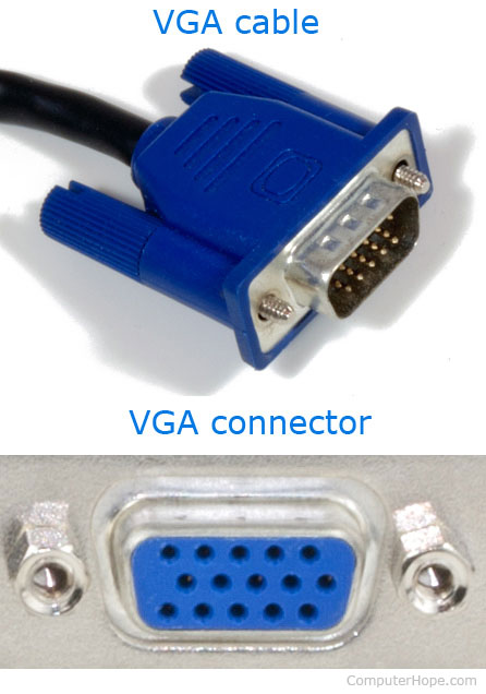 VGA cable and connector