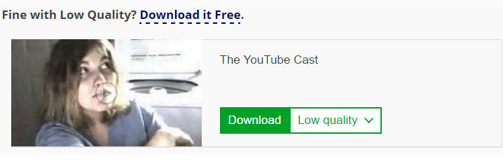 YouTube download window