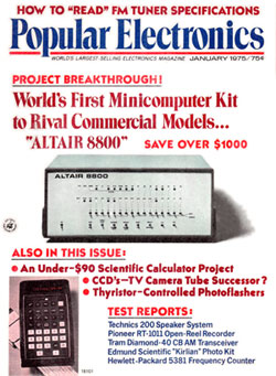 Altair on Popular Electronics magazine