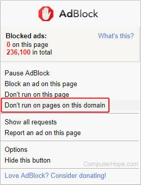 how do i whitelist the billiongraves website on my adblocker