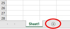 Add worksheet in Excel 2013 and later