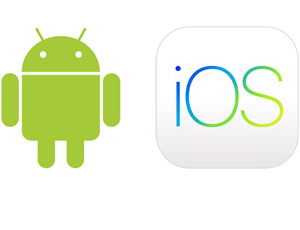 An image showing the logos for Android and iOS.