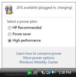 how to add battery icon to taskbar windows 7