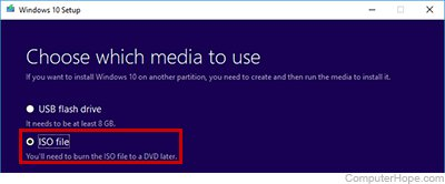 create boot disk from iso windows 10