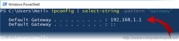 PowerShell output using select-string
