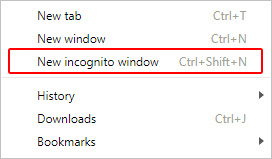 The incognito selector in Chrome.