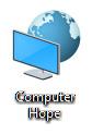Ikon yang diubah untuk folder Computer Hope.