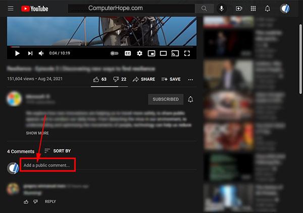 Komputer komentar YouTube