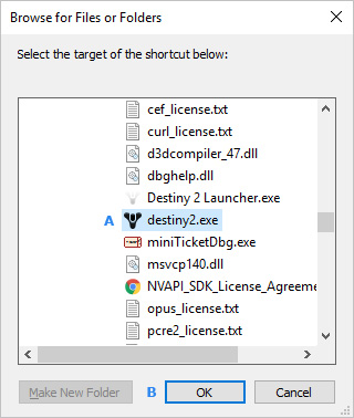 The menu in which users may create a desktop shortcut.