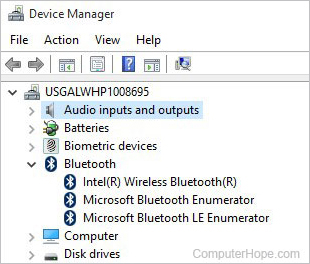 Device Manager with Bluetooth