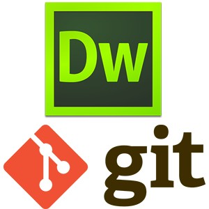 Dreamweaver and Git logos.