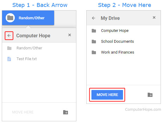 How to create, delete, and move files and folders in Google