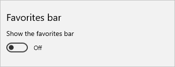 The section in which you can toggle the Favorites bar on or off in Edge.