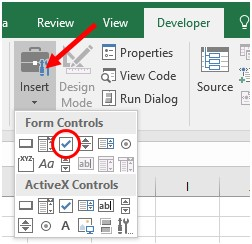 how to create checkboxes in an excel spreadsheet