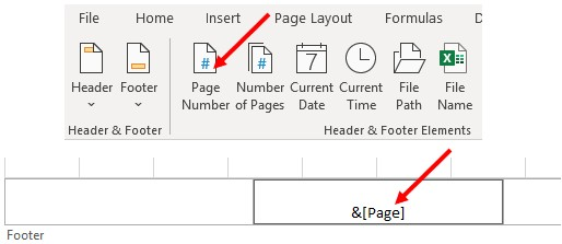 Add page number in Microsoft Excel