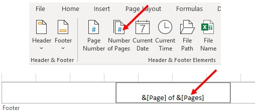 Add total pages in Microsoft Excel.
