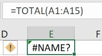 Invalid formula name in Excel