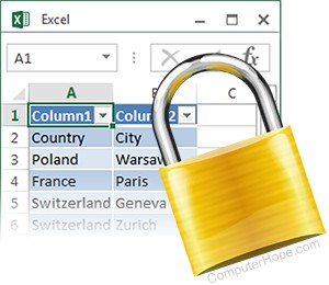 How to Protect and Unprotect a Cell or Worksheet in