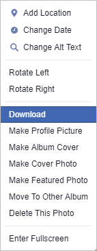 How to download a picture or video from Facebook