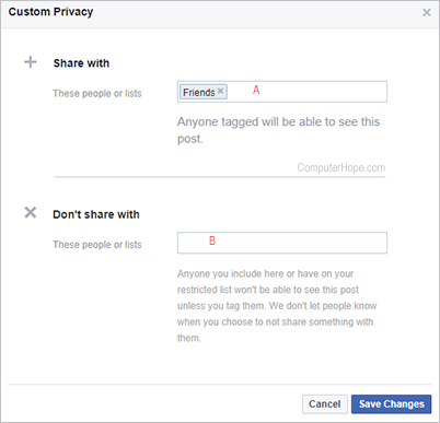 Facebook settings tagging custom add