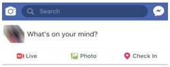 Create post on Facebook mobile app
