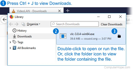 Where are the files I downloaded using my web browser?
