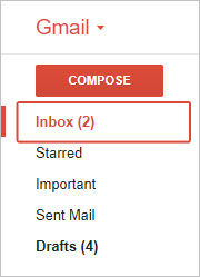 The selector for the Inbox folder in Gmail.
