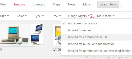How To Find Free Images Google Image with usage rights
