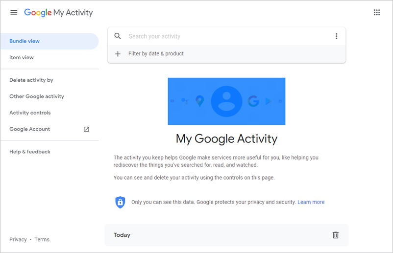 How do I view, edit, and disable Google search history?