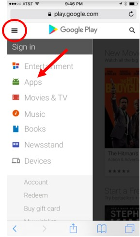 Google Play on mobile