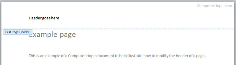 How to add a header or footer in a Microsoft Word document