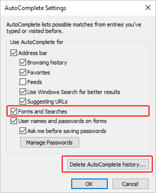 How to Add, Change, or Clear Autofill Data
