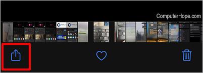 iOS Photos Send
