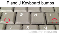 Why are there bumps on the F and J keyboard keys?