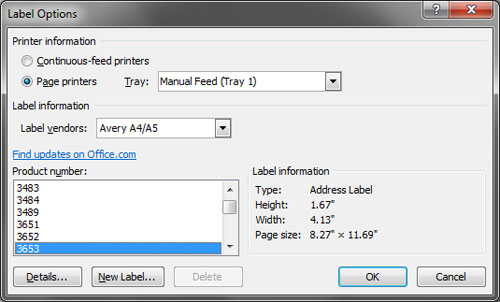 address labels in microsoft word