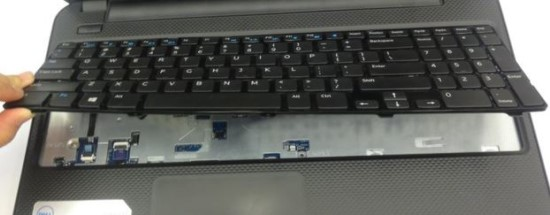 Lifting a laptop keyboard