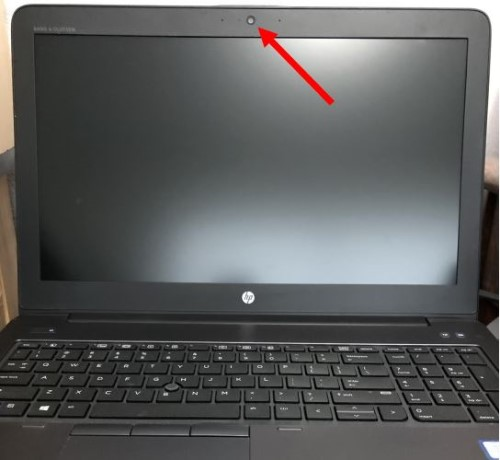 Laptop with built-in webcam