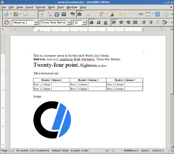How to open Microsoft Word documents in Linux