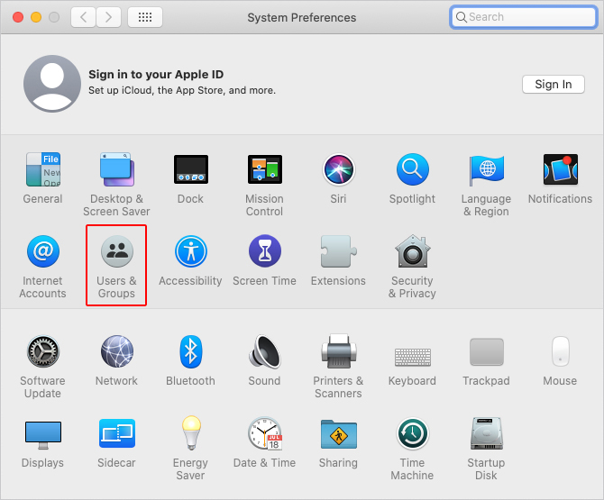 Users & Groups icon in macOS.