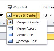 Excel Shortcut To Merge Cells