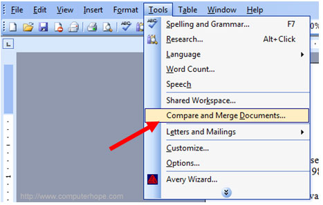 Merge Microsoft Word document